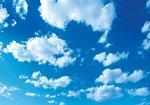 Wolken fotobehang Blauwe Lucht