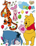 Winnie the Pooh muurstickers Vriendjes XL