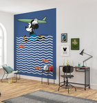 Mickey Mouse behang Gone Surfin