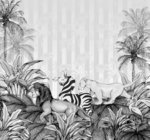 Lion King fotobehang Zwart Wit