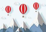 Luchtballonnen behang kinderkamer