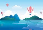Luchtballonvaart behang kinderkamer