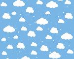 Wolken behang kinderkamer L