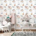 Dieren behang babykamer Sleeping Animals II
