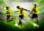 Let's Play voetbal fotobehang