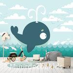 Walvis fotobehang kinderkamer
