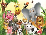 Jungle dieren VLIES fotobehang