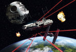 Star Wars Millennium Falcon fotobehang XL