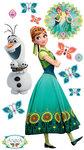 Frozen Fever Anna muursticker XXL