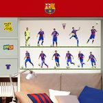 Barcelona voetbal muurstickers 11 spelers