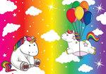 Eenhoorn fotobehang regenboog