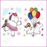 Eenhoorn muurstickers Ballonnen