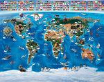 Wereldkaart behang - WT