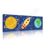 Ruimtevaart canvas Raket