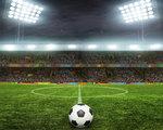 Voetbal vlies behang free kick