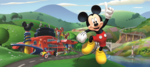 Mickey Mouse Roadster poster behang H