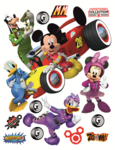 Mickey Mouse Roadster muurstickers XL