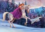 Eenhoorn fotobehang Fairy