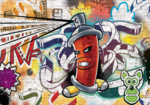 Graffiti fotobehang Red