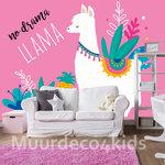 No drama Llama poster behang