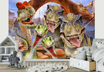 Dinosaurus behang Selfie T-Rex