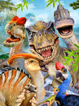 Dinosaurus behang Selfie Smile