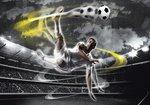 Voetbal fotobehang Voetballer XL