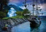 Piraten vliesbehang Piratenschip XL
