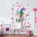 Magical unicorn muursticker XXL
