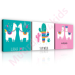 Llama Love canvas set