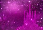 Prinsessen Kasteel behang Sterren Roze