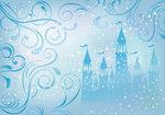 Prinsessen Kasteel behang - Blauw