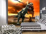 Dinosaurus vlies behang T-Rex XL