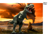 Dinosaurus vliesbehang T-Rex XL
