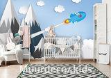 Ruimtevaart behang kinderkamer