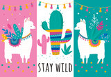 Lama behang Stay Wild