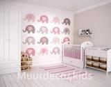 Babykamer behang Roze Olifantjes XL