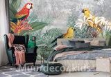 Papegaaien behang