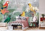 Papegaaien vliesbehang