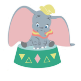Dumbo muurstickers XL