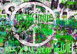 Graffiti fotobehang Green