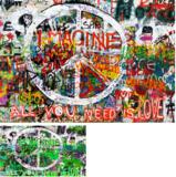 Graffiti behang Peace