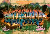 Graffiti fotobehang Brotherhood