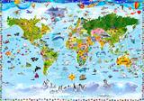 Wereldkaart fotobehang kinderkamer