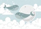 Walvissen behang babykamer