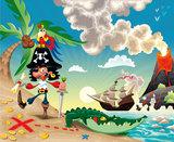 Piraten fotobehang kinderkamer
