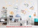 Dieren muurstickers babykamer