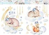 Slapende dieren muurstickers L set I