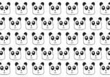 Getekende Panda's vlies behang