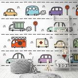 Kinderkamer behang Auto